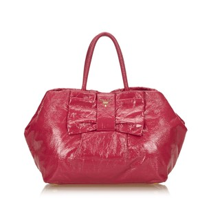 Prada Leather Patent Leather Tote