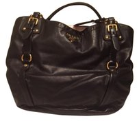 Prada Leather Purse Black Shoulder Bag