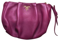 Prada Leather Wristlet in Bordeau