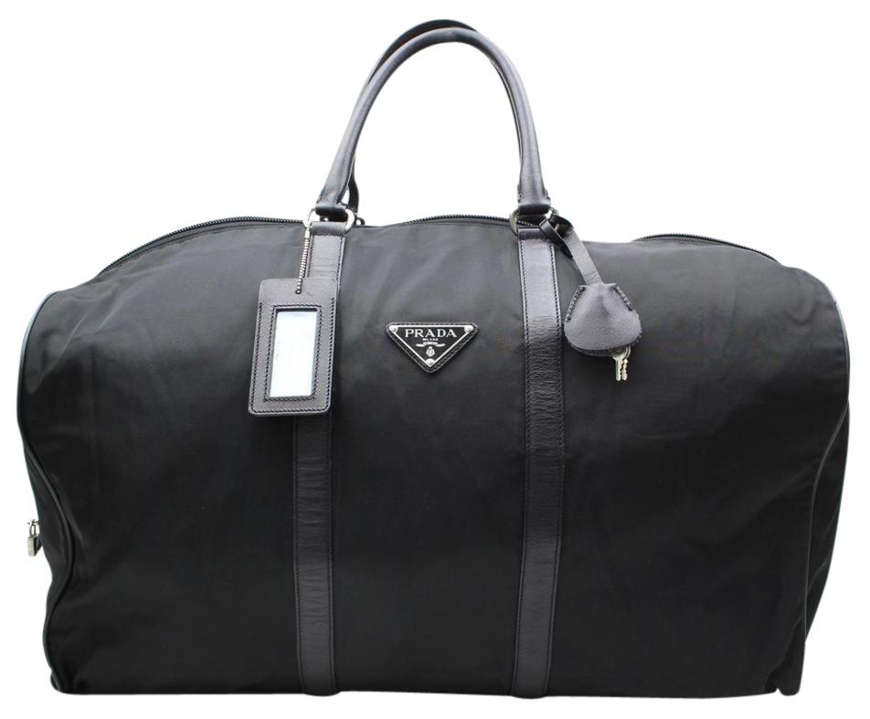 9afb9bb0989b ... discount code for prada luggage duffle keepall black travel bag 94925  7f46f