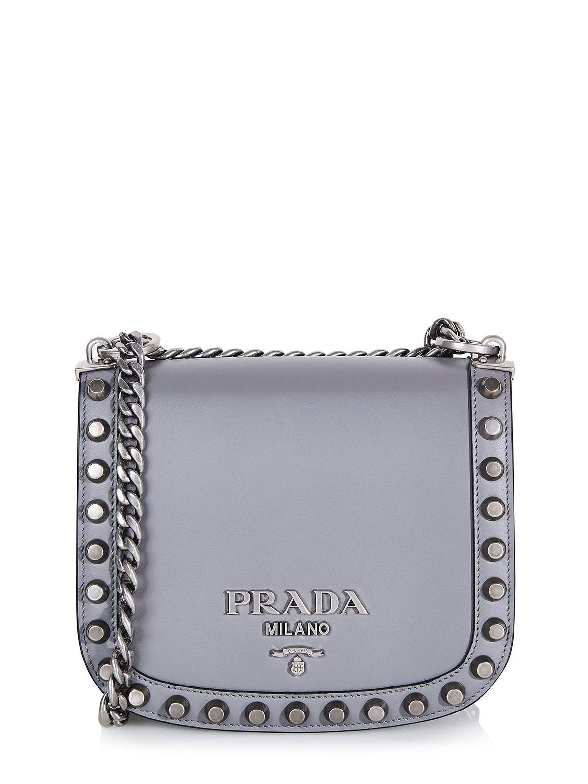586322fa4626 free shipping prada studded leather shoulder bag 8ca40 fbfbe