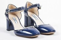 Prada Patent Leather Blue Pumps