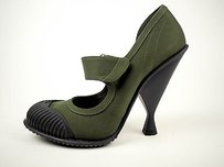 Prada Runway 2014 Olive Green Pumps