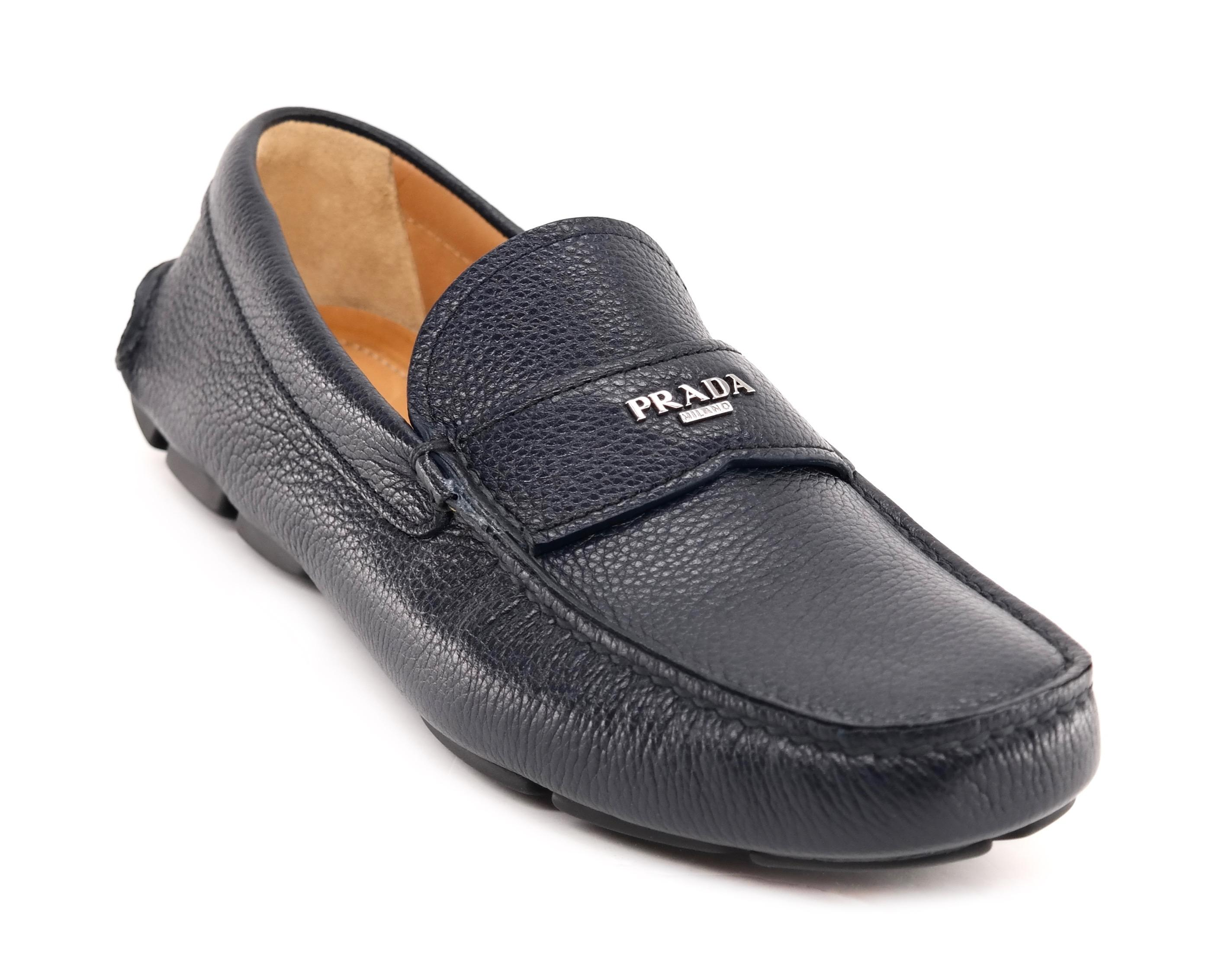 f1e3e5cd448 coupon code for prada black saffiano driving loafers b7e08 2490e  where can  i buy prada slip on drivers men navy blue flats 7a9e7 d6151
