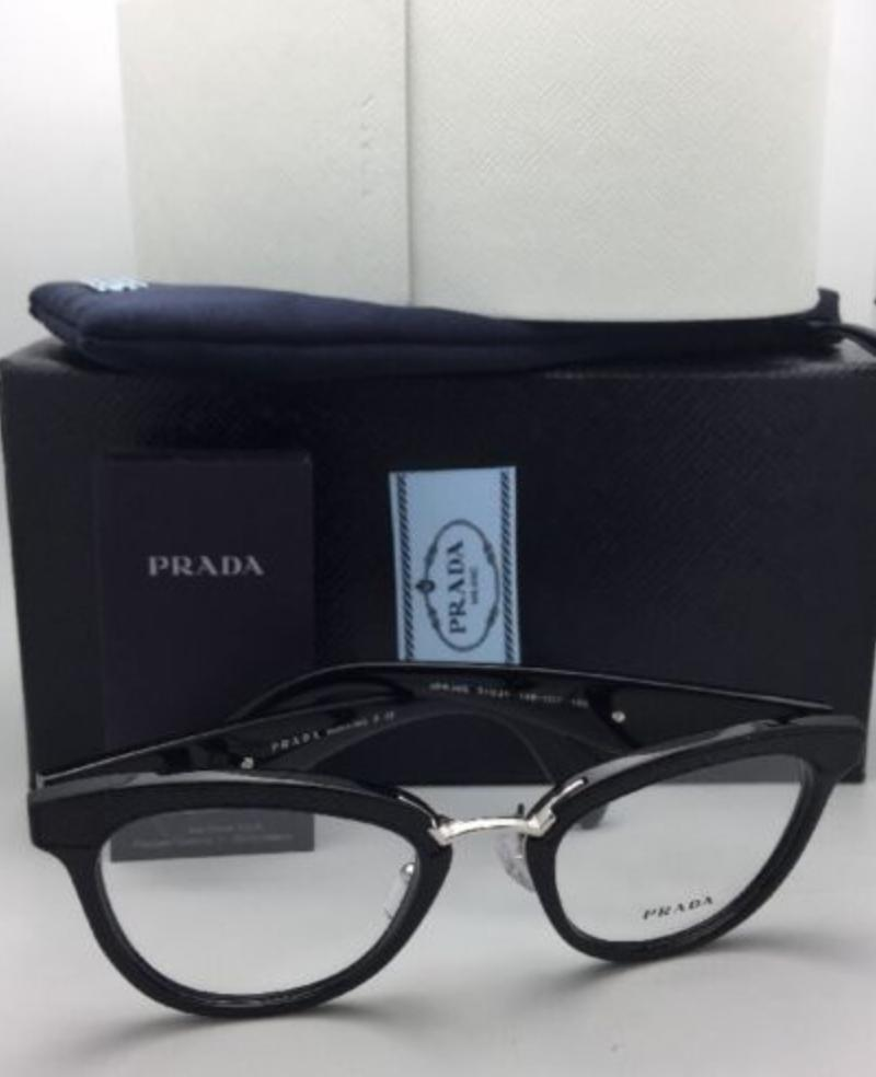 33ab916546590 ... hot prada new rx able vpr 26s 1ab 1o1 51 21 black black leather silver  sunglasses