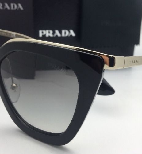 c2fb125254e4 ... coupon code for prada new spr 53s 1ab 0a7 52 21 black gold frame w grey