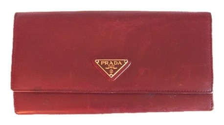 Prada Classic leather wallet Best Store To Get For Sale In China Online Sale Largest Supplier Clearance Best JjH4QiOB