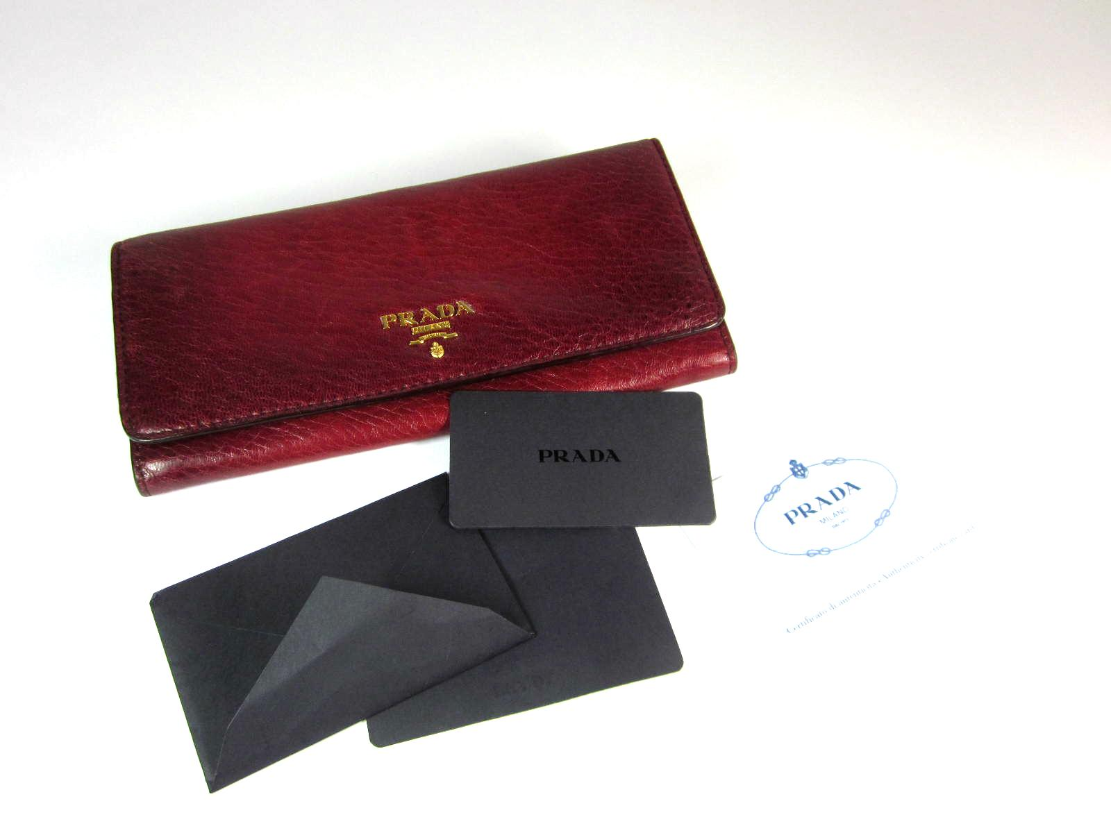 3303e3ca07b73b ... cheapest prada red wine leather logo long wallet organizer.  1234567891011 4c917 a95a2