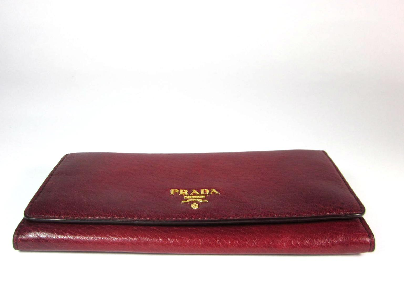 747aee1af7393e cheapest prada red wine leather logo long wallet organizer. 1234567891011  4c917 a95a2