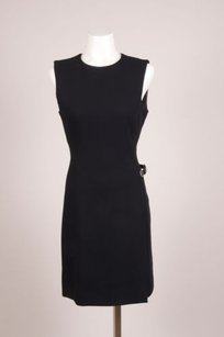 Prada Black Woven Velcro Belt Dress