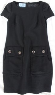 Prada short dress Black Virgin Wool on Tradesy