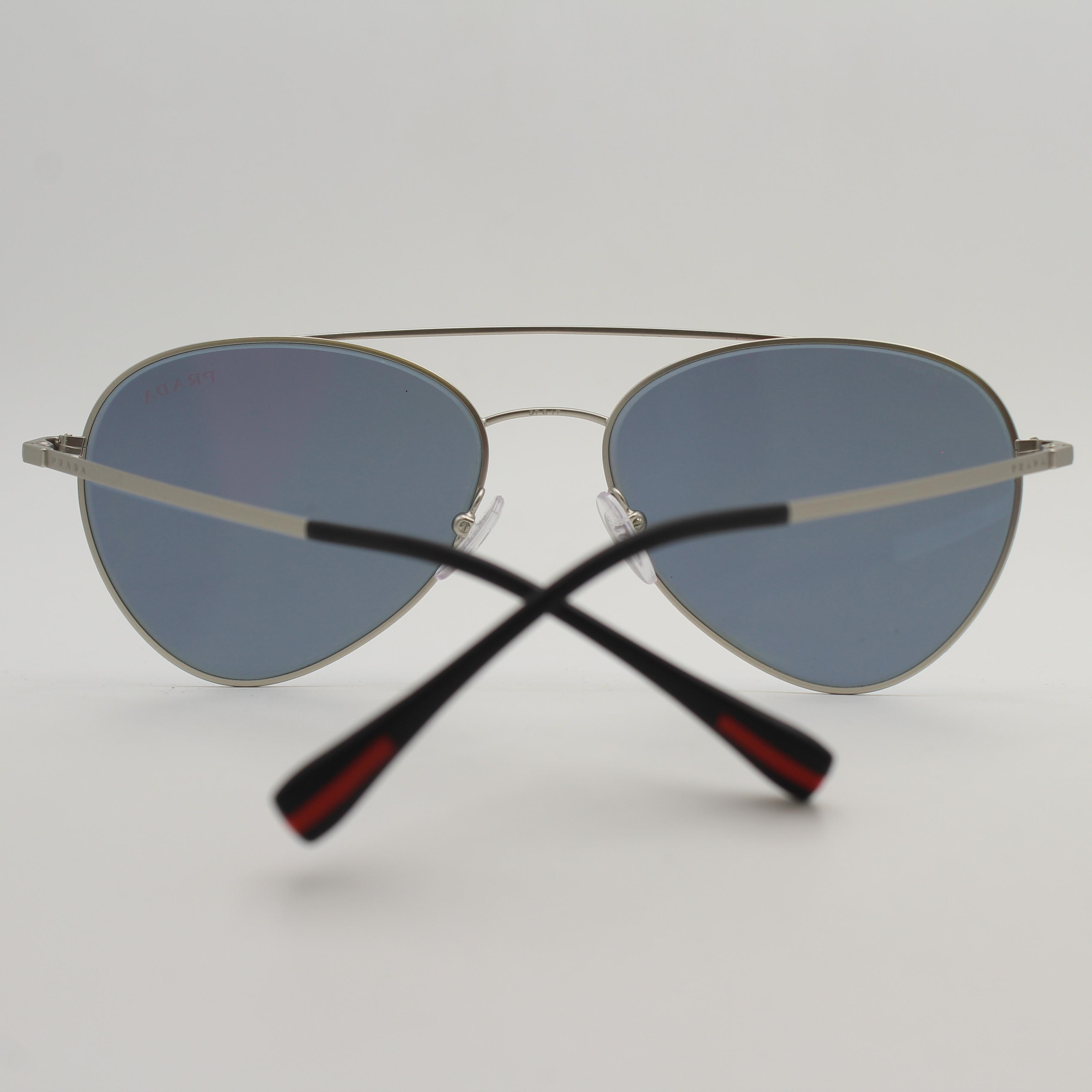 112154130a ... release date prada silver steel mirror feather weight aviator sps 50s  sunglasses 14a76 7ded1