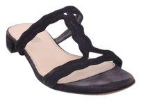 Prada Suede Leather Black Sandals
