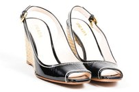 Prada Patent Leather Black Sandals