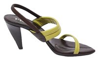 PRADA Slingbacks Brown/Avocado Platforms