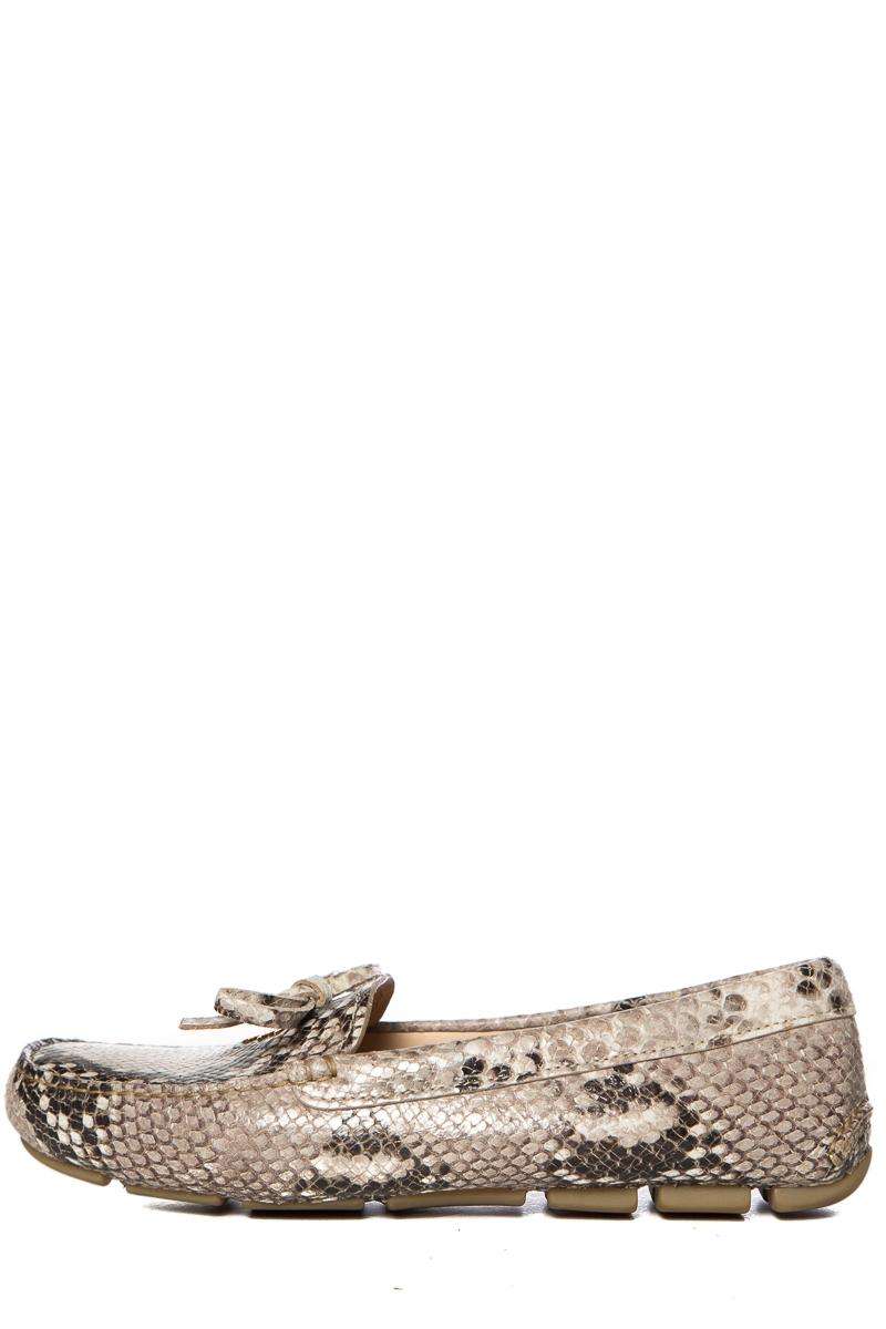 da35fe84c40 Prada Snakesin Embossed Leather Loafers Pumps Size EU 39.5 (Approx. (Approx.  (