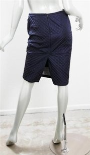 Prada Navy Quilted Skirt Blue