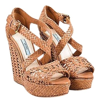 Prada Woven Platform Wedges buy cheap good selling clearance for sale discount authentic online JpnC8aoQ