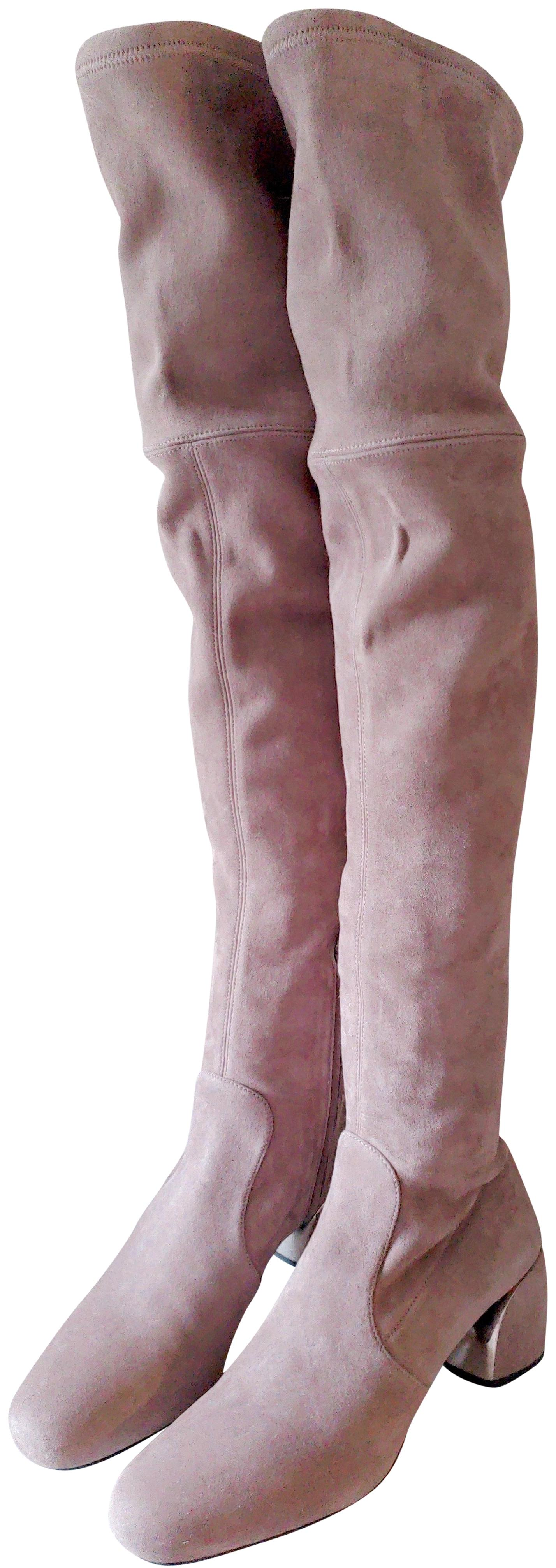 Prada Taupe Over-the-knee Boots/Booties Size EU 38 (Approx. US 8) Regular (M, B)