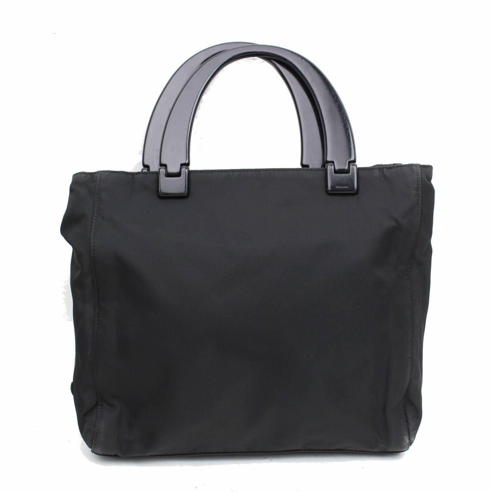 ef7232c7c1a1 ... uk prada tessuto vela nero luxe shopper tote in black 6c865 93e28