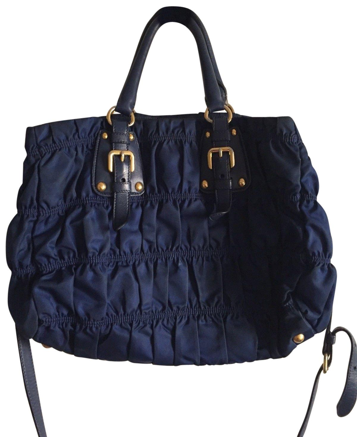 d52f61cb72db ... tote chic only glamour always ceb4d d6283; coupon for prada tessuto  gaufre handbag crossbody in nylon leather navy nylon 13c54 26649