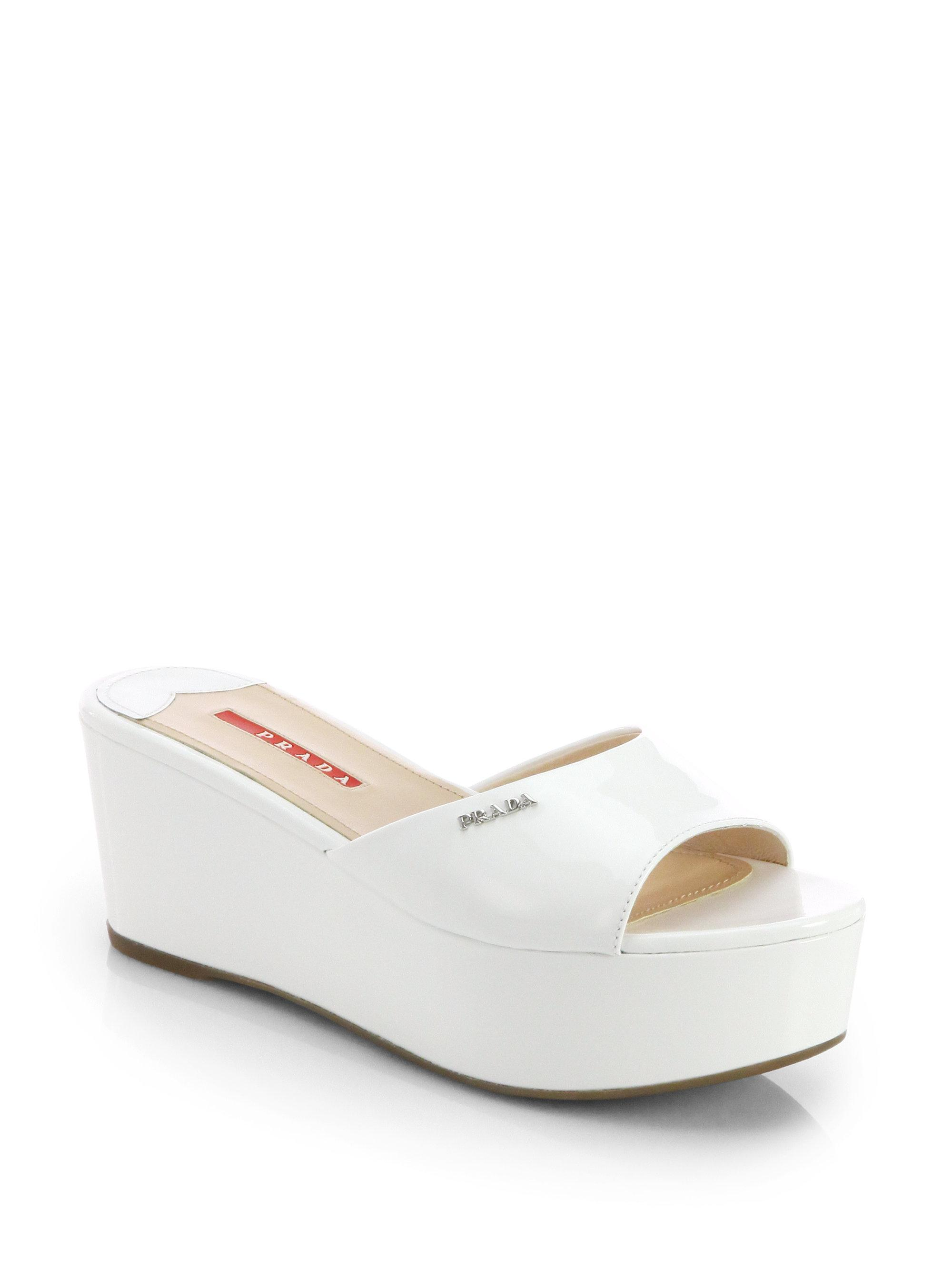 store online Prada Patent Leather Slide Sandals best wholesale cheap price outlet geniue stockist manchester great sale cheap price XoGjstgn