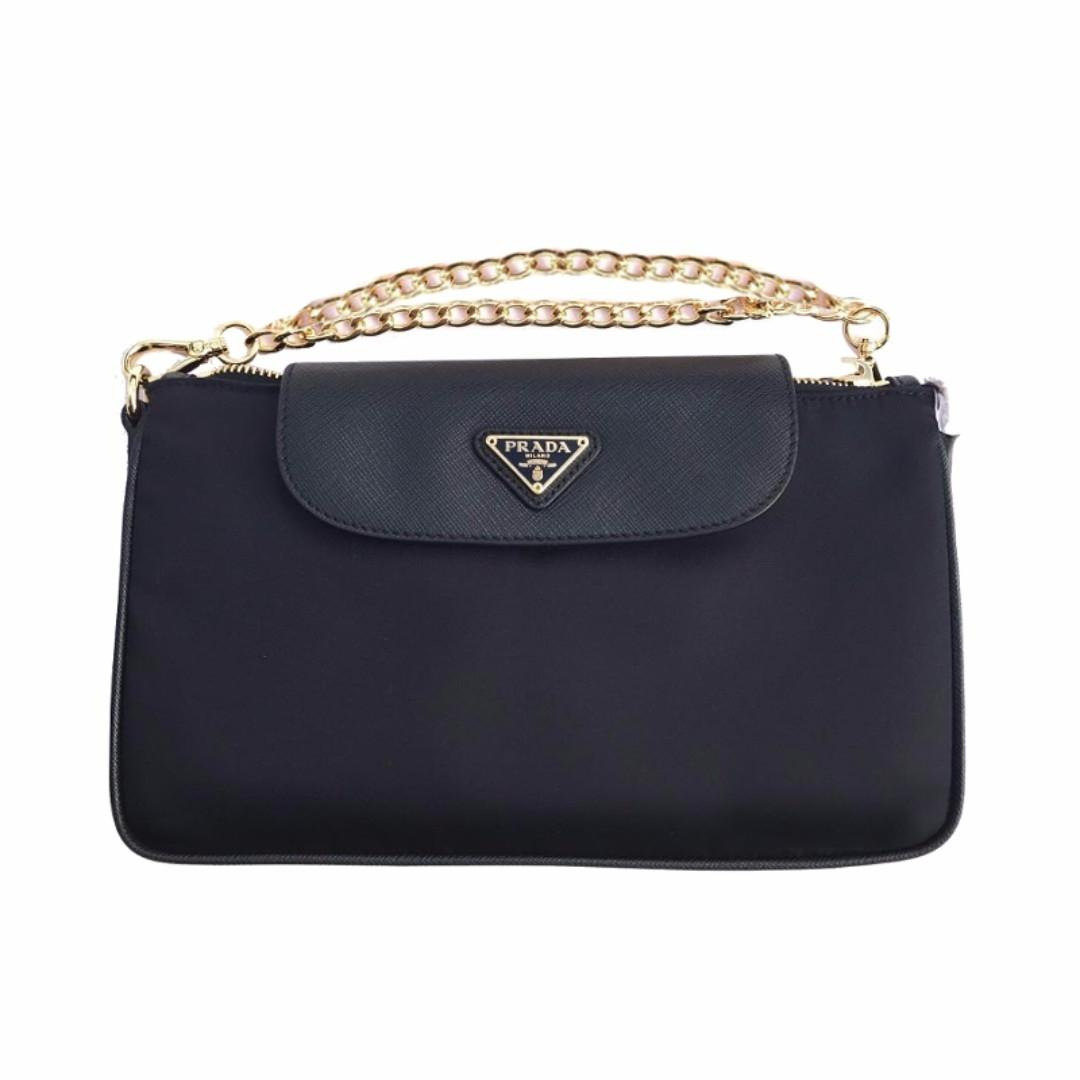 Prada Blue Nylon Crossbody Bag h5Kcr