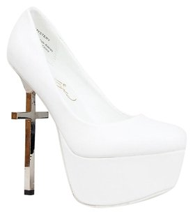 Privileged White Pumps
