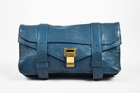 Proenza Schouler Leather Blue Clutch