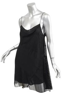 Proenza Schouler short dress Black Proenza Womens Chiffonmesh Sleeveless Slip on Tradesy