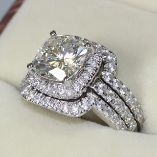 4.5 5 5.5 6 6.5 7 7.5 8 8.5 9 9.5 Pt950 Band Diamond Ring Set