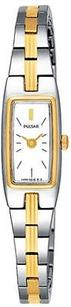 Pulsar Pulsar By Seiko Dress White Dial Two-tone Womens Watch Pex506