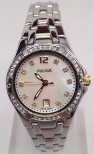 Pulsar Pulsar Womens Crystal Mother Of Pearl Dial Watch