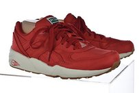 Puma Womens Red Sneakers Lace Up Color Block Casual Multi-Color Athletic
