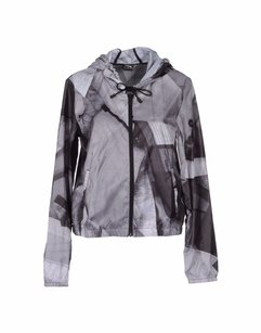 Puma Puma By Hussein Chalayan Gray Abstract Photo Print Hooded Sporty Bomber Jacket