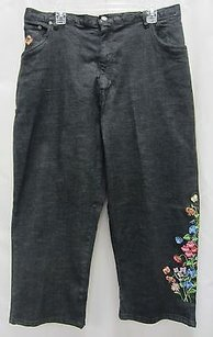 Quacker Factory Dark Wash Capri/Cropped Denim