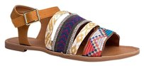 Qupid Ankle-strap Multi/Print Sandals