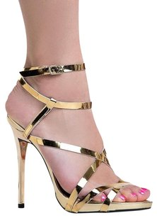 Qupid Gold Sandals
