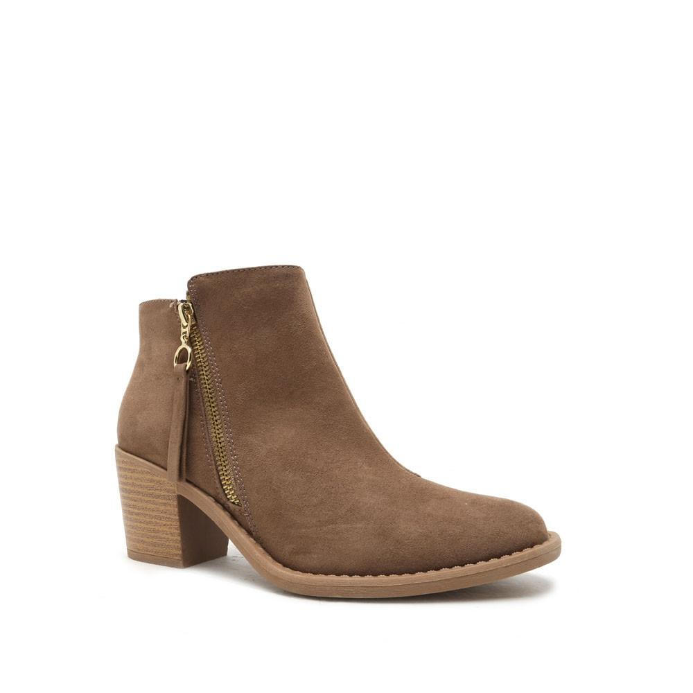 4b5367846df Qupid Taupe Tobin Boots Booties Size US 9 Regular (M