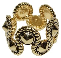 Rachel Zoe RACHEL ZOE GOLD TONE ROPE WAIVES RING