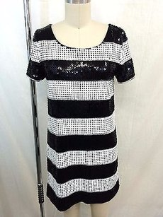 Rachel Zoe short dress Black/ White Black Sequin on Tradesy