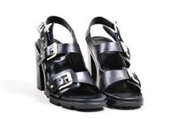 Rag & Bone Leather Buckle Black Sandals