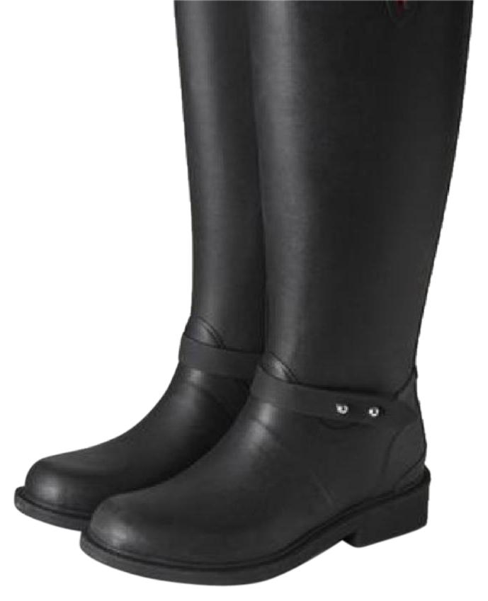 Rag & Bone Black with Silver Hardware New Tall Riding Rain Completely Sold Out In Stores Boots/Booties Size US 8 Regular (M, B)