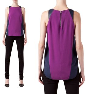 Rag & Bone Leather Casual Top Purple
