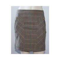 Rag & Bone Wool Plaid Straight Above The Knee Mini Sz0 Hs1534 Mini Skirt Multi-Color