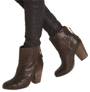 Rag & Bone + Newbury Leather Brown Boots