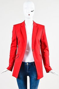 Rag & Bone Rag Bone Red Cotton Single Button Ls Blazer Jacket