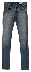 Rag & Bone Blue Preston Paint Skinny Jeans