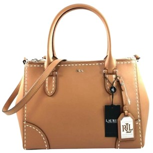 Ralph Lauren Leather Rothwell Tote in Brown