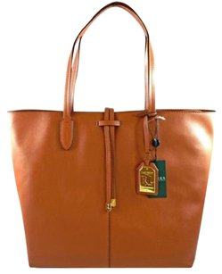 Ralph Lauren Leather Crawley Tote in Brown